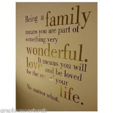 Family Wall Art Vinyl Wall Decal Stunning Beautiful